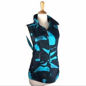 Lululemon Black & Turquoise Nylon Vest